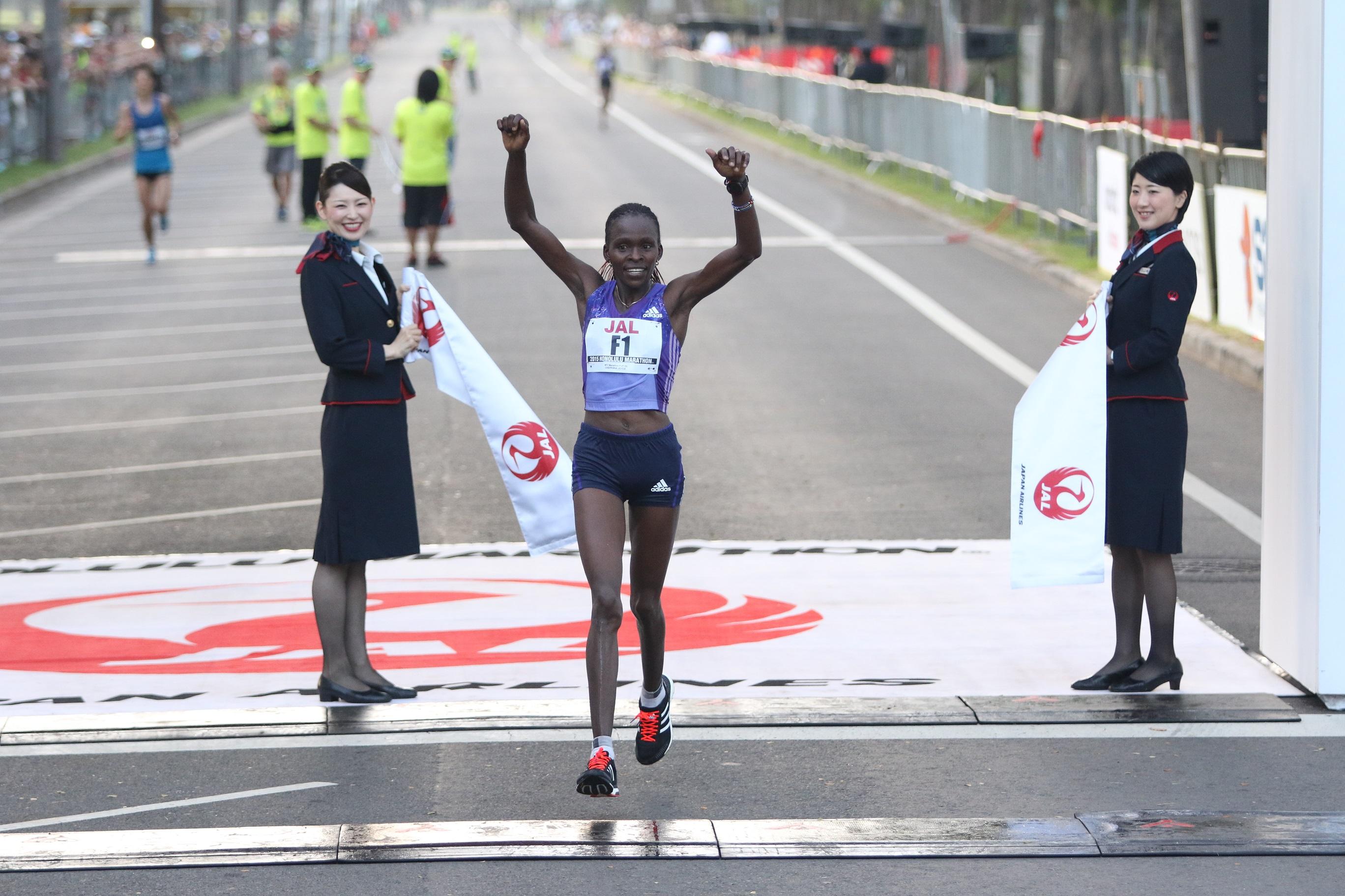 フルマラソン女子優勝 ジョイス・チェプクルイ(ケニア)